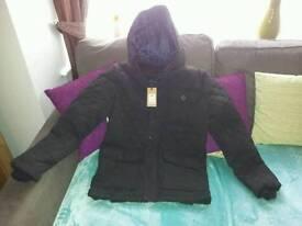 Brand new Mens size medium black coat