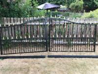 Newly painted garden gates