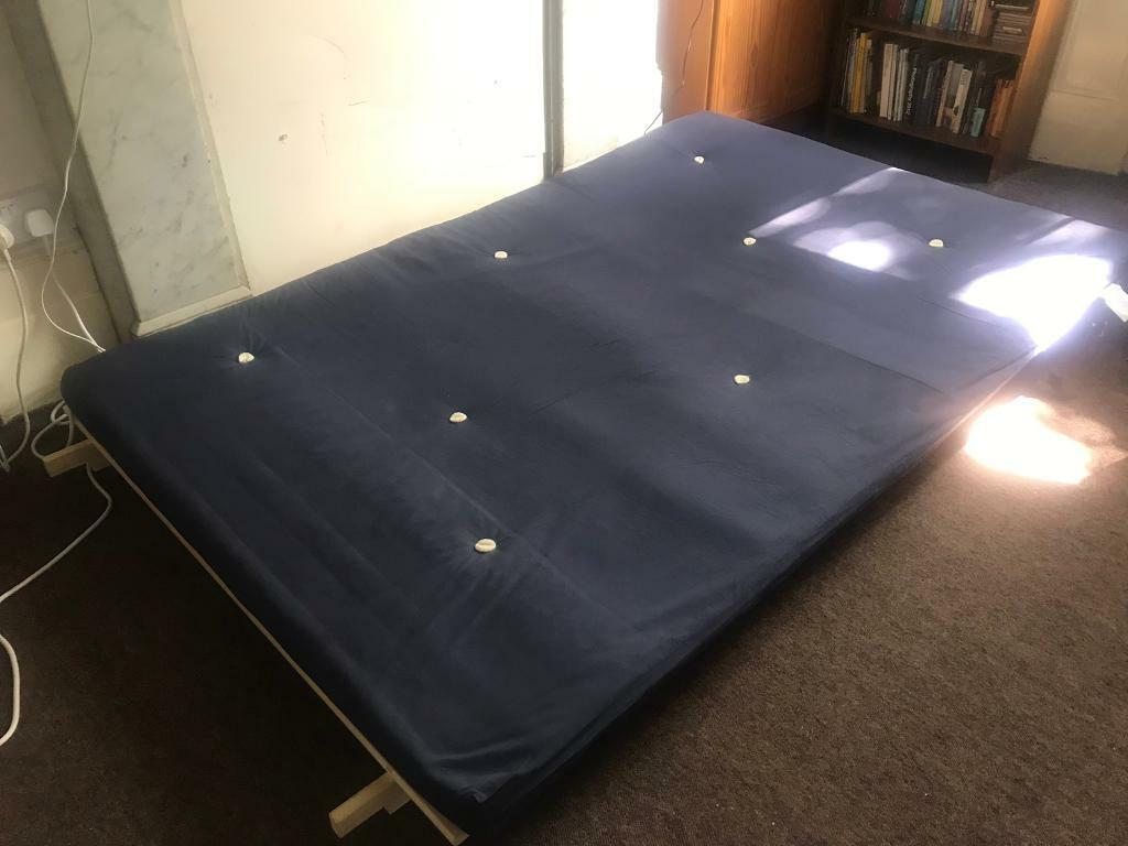 pretty nice 21d32 07a83 Wooden futon chair/bed frame with mattress for sale. | in Islington, London  | Gumtree