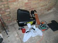 electric compressor for garage with tyre inflater ,paint spray gun, parafin gun etc