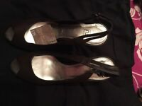 Brand new brown wedges size 6