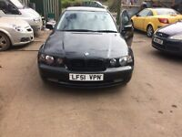 2001 Bmw 318TI SE Compact 3dr 1.8 Petrol Black BREAKING FOR SPARES