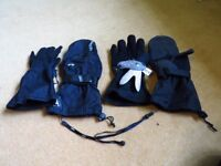 Level Butterfly Mitt / Glove (Black) with Wrist Protection, Adult Small, Excellent Condition