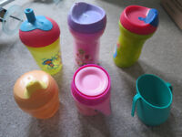 Baby / kid bottles and cups x 6