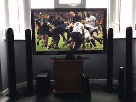 SAMSUNG 50 INCH PLASMA HD TV CINEMA SURROUND SOUND SYSTEM