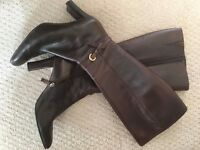 Size 5 1/2 Ladies brown leather boots