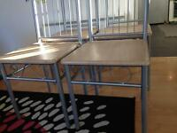 TABLE AND CHAIRS. METAL FRAME. EXCELLENT CONDITION.