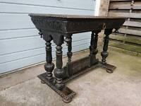 Antique carved oak Table.
