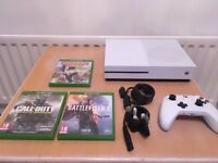 XBOX One S 500GB *Immaculate* Condition with 3 games - Battlefield 1, CoD Infinite Warfare, Monopoly