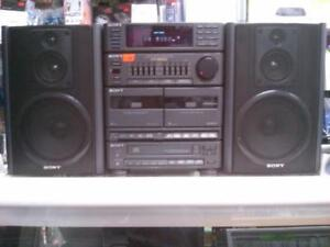 Sony FM/AM, Cassette and CD Player $100