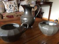 pewter tea set