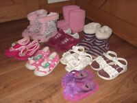 size 8 (26) bundle of shoes, slippers & boots as seen in pic collect or deliver Stonehaven