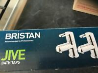 NEW Bristan chrome loop taps