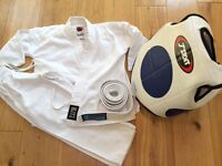 Child's Karate Judo Suit, Body Protector Armour & White Belt Age 4-7 years Martial Arts