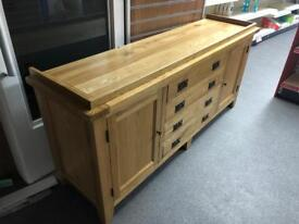 Solid oak side unit stunning condition