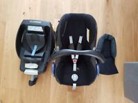 Car seat Maxicosi cabriofix newborn - 9 months size 0+ black grey brilliant condition