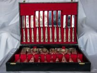 Silver plated Kings Pattern cutlery Canteen by Eben-Parker, 6 place settings (plus other items)