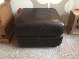 Leather Brown DFS Storage Foot Stall