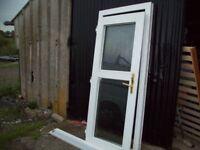 PVC Back door White