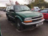 CHEVROLET BLAZER V6 AUTO 5-DOOR RHD METALLIC GREEN (MARCH 2000) 4x4