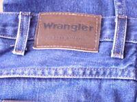 mens wrangler jeans 40 waust 32 leg
