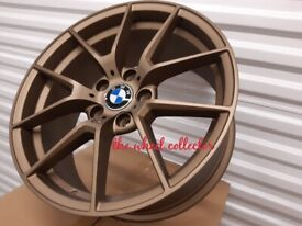 "J3* NEW 4X 18"" GOLD COMPETITION BMW 5 4 3 2 1 SERIES ALLOY WHEELS ALLOYS Z4 763M M PERFORMANCE"