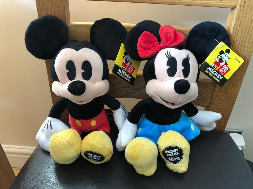 Mickey Amp Minnie 90th Birthday Plush Toys In Surbiton