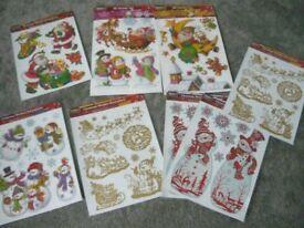 CHRISTMAS WINDOW DECCORATIONS 8 X PACKS BRAND NEW