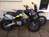 2X M2R KM140MX Motocross/Pitbikes