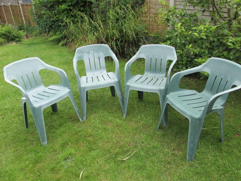 set of 4 stacking patio chairs in tunbridge kent