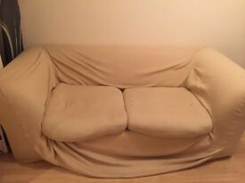 Large comfy sofa, comes apart into two