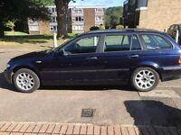 53 Reg BMW 320d SE touring, 6 speed manual, facelift, leather seats, orient blue