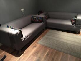 Two ikea sofa's