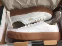 Brand new puma platform gum sole size 5