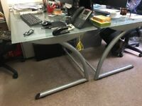 Office glass desks clearance