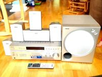 RECEIVER & AMPLIFIER : SONY STR -DE597P with subwoofer and speakers