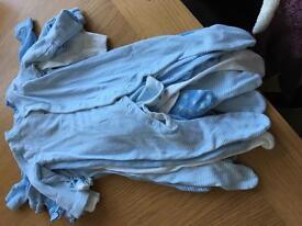8 x 3-6 month sleep suits