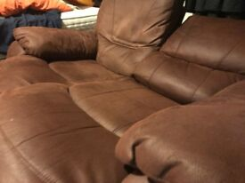 Double recliner sofa! GREAT CONDITION but MUST GO IMMEDIATELY!