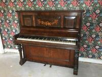 W.McCoy Walnut Victorian Piano North Wales Piano Co Bangor