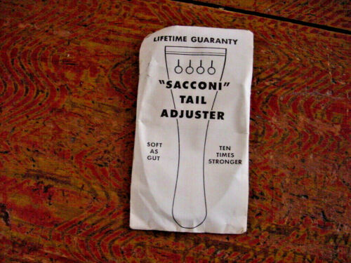 VINTAGE   SACCONI CELLO TAIL ADJUSTER SOFT AS GUT TEN TIMES STRONGER 70s NOS