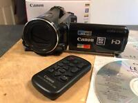 Canon Legria High Definition Camcorder with touchscreen and remote control