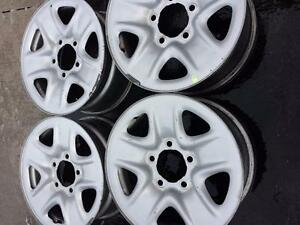 TOYOTA TUNDRA FACTORY OEM 18 INCH STEEL RIM SET OF FOUR.