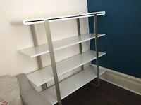 High quality White shelf system - 4 Levels (L: 160 x W: 50 x H: 153)