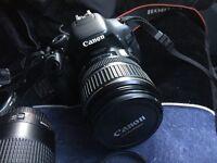 Canon EOS600D DSLR + efs17-85mm lens + ef 75-300mm lens ,flash gun 420ex speedlite