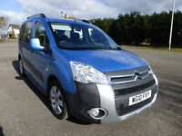 Wheelchair Accessible Vehicle NO VAT 12mths MOT Lightweight ramp Electric Winch/Reels Roofbars Blue
