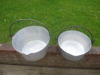 2 Preserving Pans;