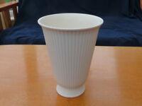 Vintage white Wedgewood vase