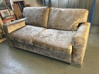 AS NEW A BEAUTIFUL TAUPE TEXTURED VELVET EFFECT SOFABED