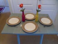Solid Wood (painted) small dining/breakfast table