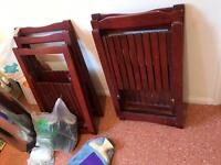 Wooden folding chairs £5 each